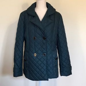 Covington Blue Green Quilted Puffer Lady's Jacket